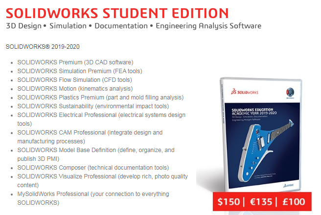 edición de estudiantes solidworks