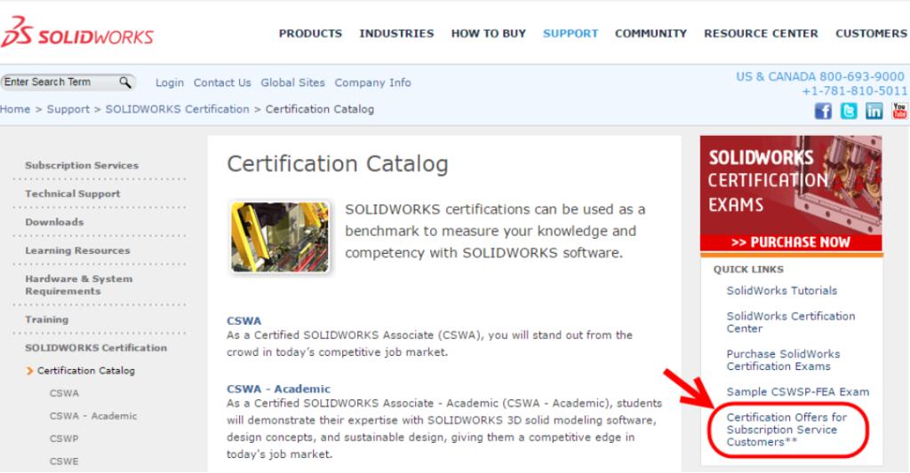 catalogo de certificaciones solidworks