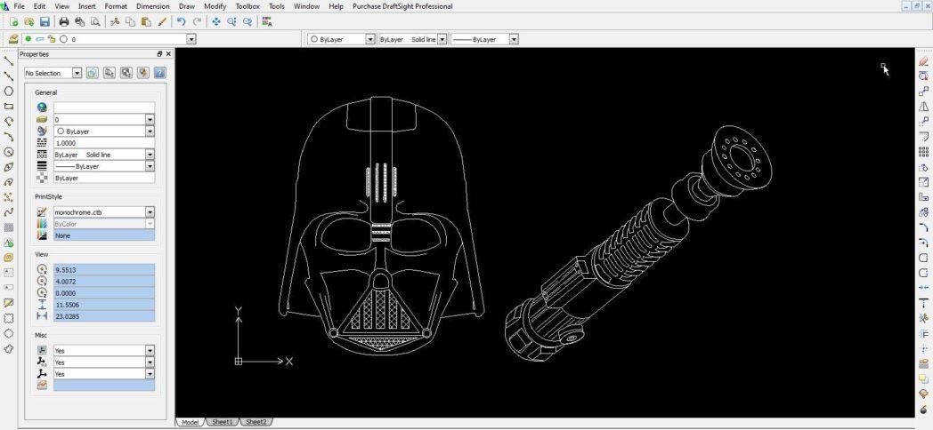 Diseño star wars con Draftsight