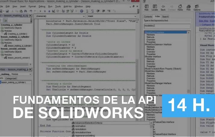 Curso MySolidworks de fundamentos de la API de SOLIDWORKS