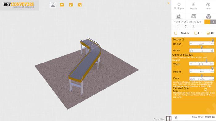 configurador de productos conveyor