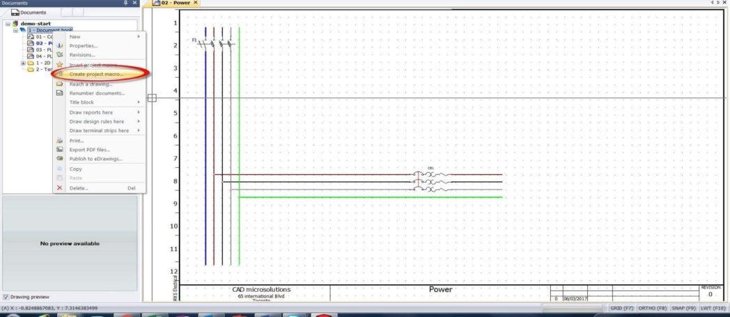 Proyecto de macro en solidworks electrical