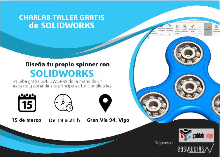 Diseña un spinner con SOLIDWORKS en Vigo