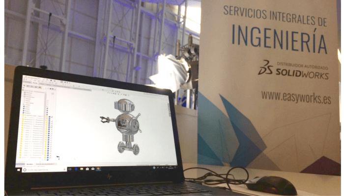 robot diseñado con solidworks