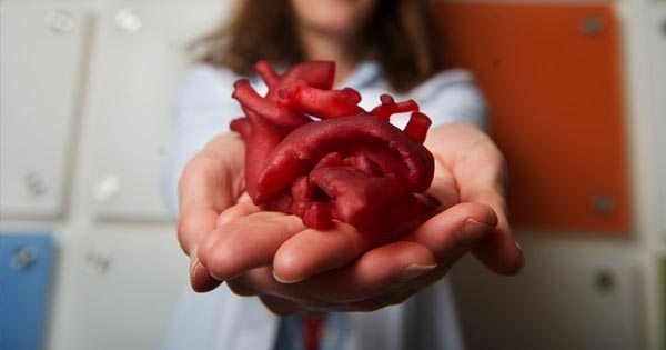 corazón hecho en 3D