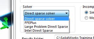 tipos de solver en solidworks simulation