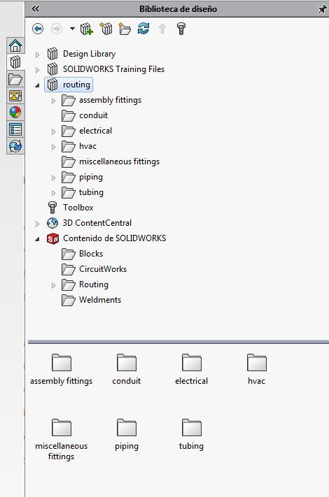 biblioteca de diseño de routing