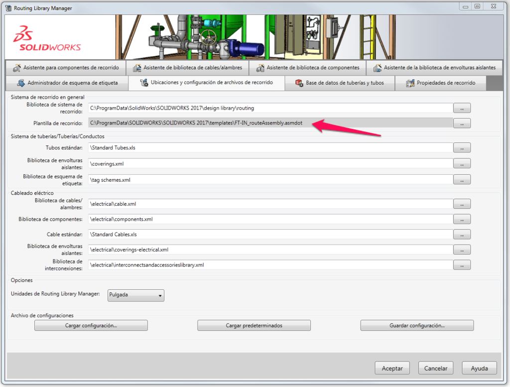 plantillas en solidworks routing