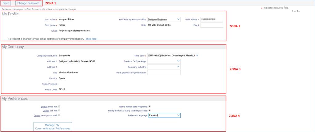 portal de clientes perfil