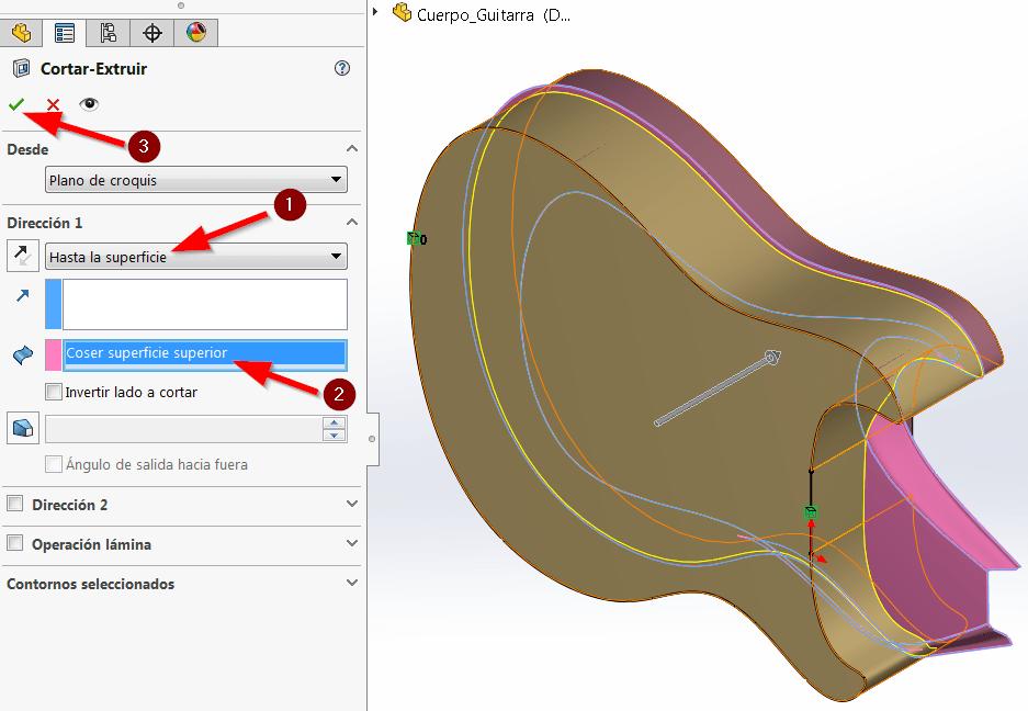 modelado híbrido solidworks