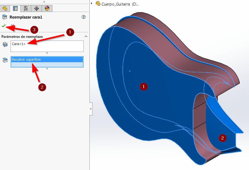 modelado de híbrido solidworks