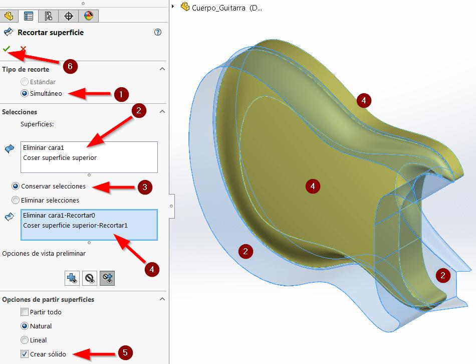 modelado híbridos solidworks