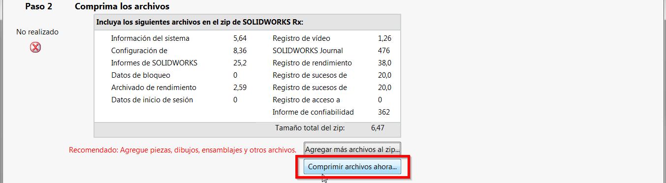 comprimir archivo rx