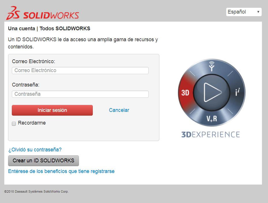 acceso a customer portal de Solidworks