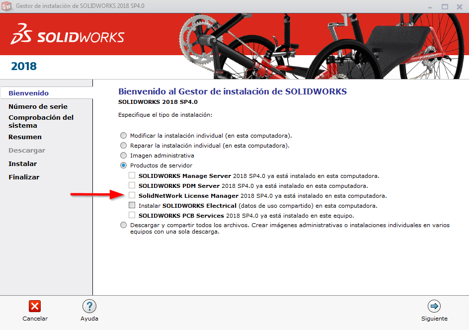 instalar licence manager