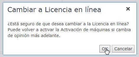 cambiar a licencia online