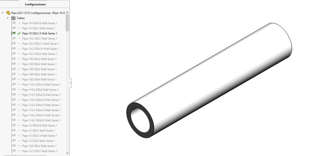 tubería ISO 1127