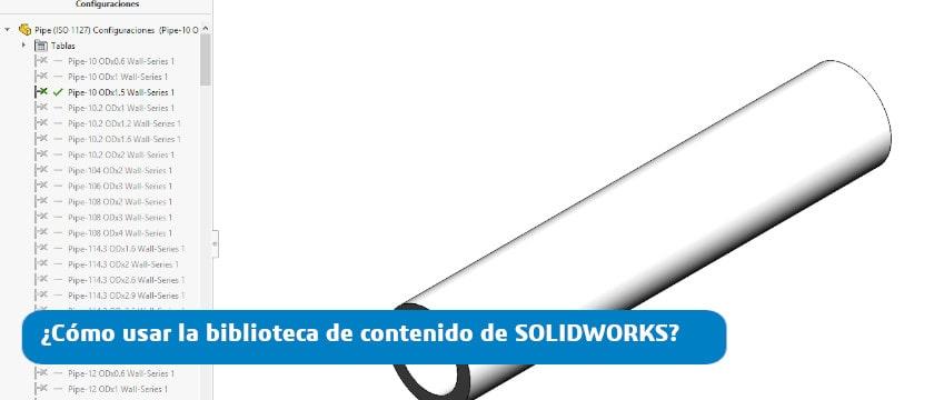 usar biblioteca de solidworks