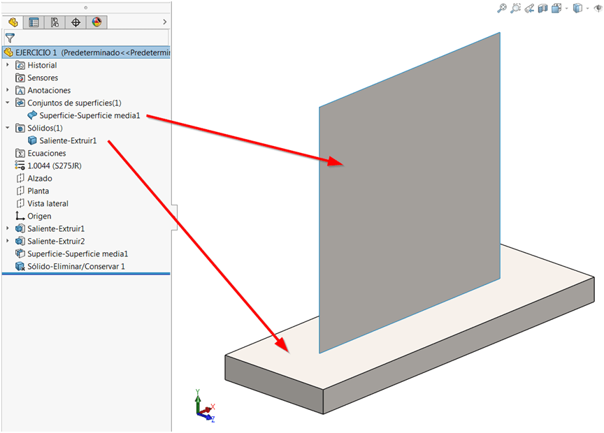 tipo superficie solidworks