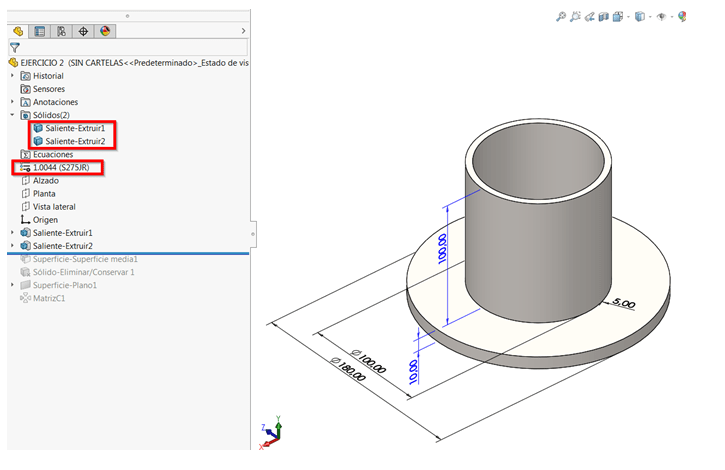pieza soldada simulation