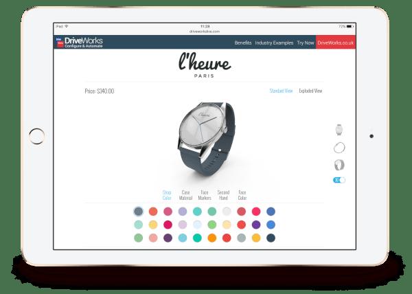 driveworks configurar producto