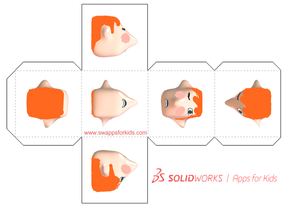 ejemplo cubo para imprimir de apps for kids SOLIDWORKS