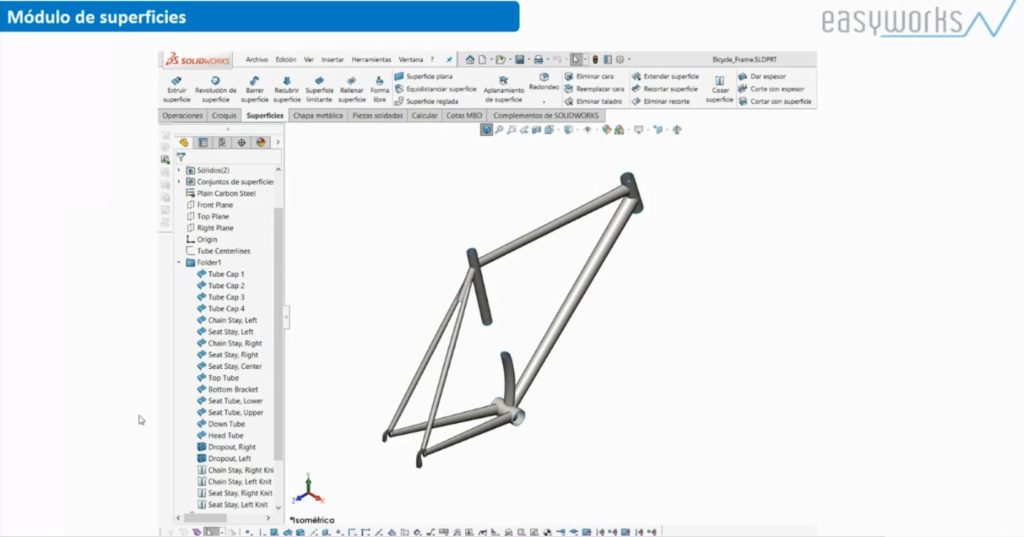 Módulo Superficies SOLIDWORKS