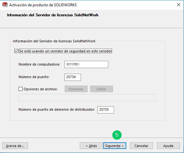servidor de licencias solidworks